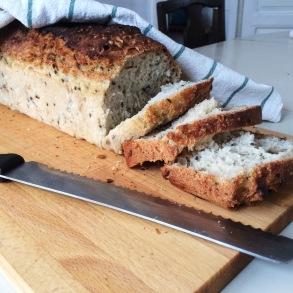 Our homemade vegan bread