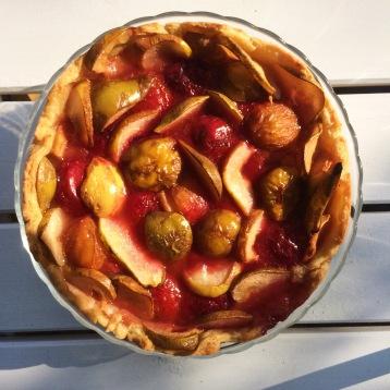 Puff bakverk päron plommakaka // Puff pastry pear plum cake