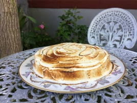 cinco leches cake with meringue